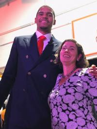 Tobias Harris and Read by 4th's Jenny Bogoni at the Community Draft