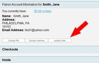 New Update Email Button