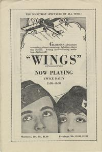 Page from the program from the National Theatre in Washington, DC from Septemeber 1928.