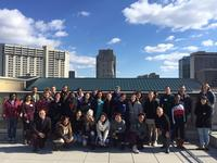 Work study students group photo taken on Parkway Central Library's rooftop