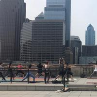 Roots2Rise yoga classes on the rooftop of Parkway Central Library, every Saturday morning from 10:00 a.m. to 11:00 a.m., until July 20!