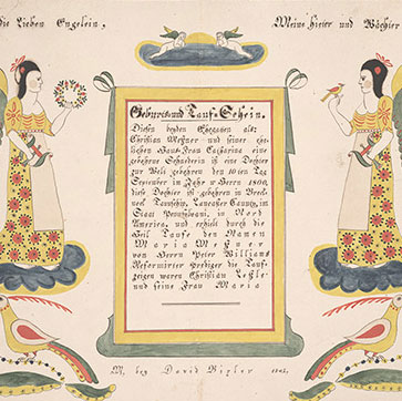 Pennsylvania German Fraktur and Manuscripts
